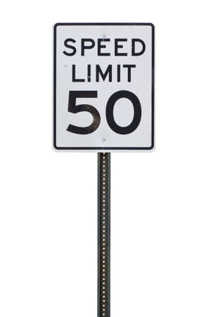 limit: 50 mph speed limit sign cut out