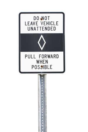 White Car Pool lane sign cutout
