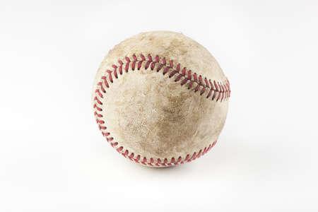 An old worn baseball photo