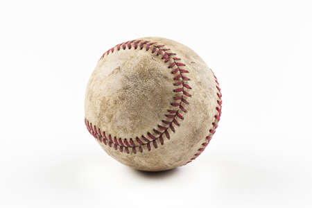 baseball ball: An old worn baseball