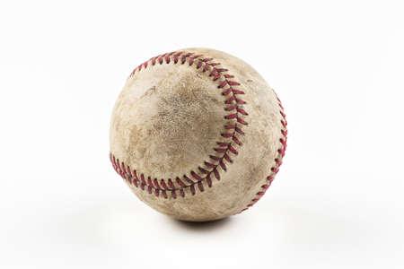 beisbol: Un viejo b�isbol desgastado Foto de archivo