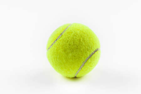 sphere: A yellow tennis ball Stock Photo