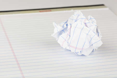 A crumpled piece of a paper Stock Photo - 9730148