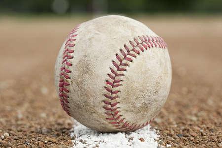 hardball: An old worn baseball