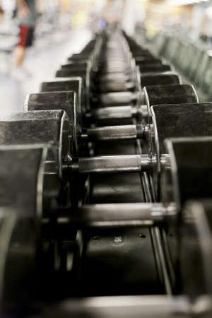 levantando pesas: Pesas en un gimnasio