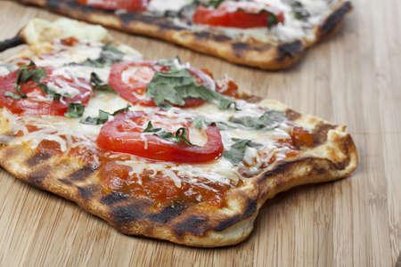 A homemade margarita pizza photo