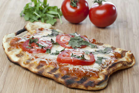 margarita pizza: A homemade margarita pizza