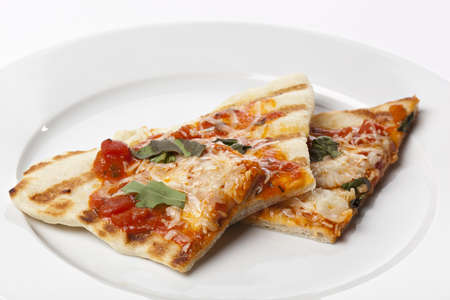 margarita pizza: Slices of margarita pizza