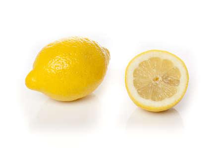 A fresh yellow lemon that is cut Stock Photo - 9776251