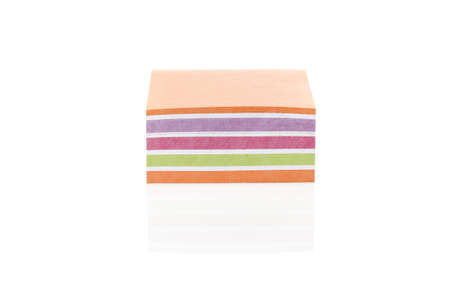 A colorful note pad against a white background Stock Photo - 9864731