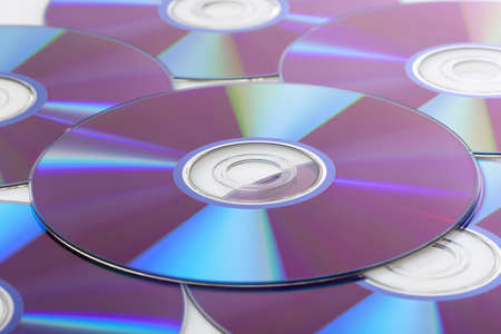 A colorful CD against a white background Stock Photo - 9990769