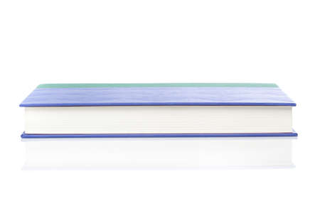 A single clean book against a white background Stock Photo - 9990329