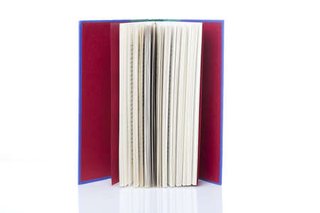 A single clean book against a white background Stock Photo - 9990183