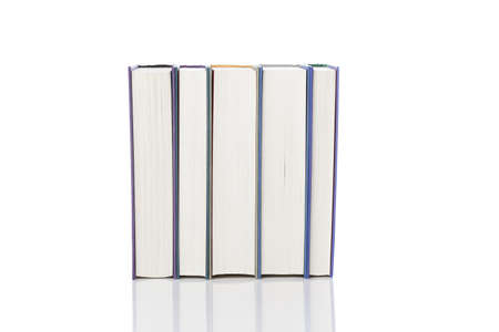 A group of books against a white background Stock Photo - 9990167