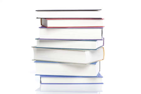 A group of books against a white background Stock Photo - 9990403
