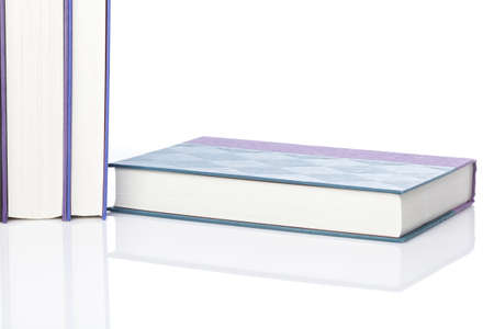 A group of books against a white background Stock Photo - 9990649