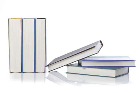 A group of books against a white background Stock Photo - 9990404