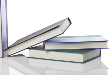 A group of books against a white background Stock Photo - 9990755