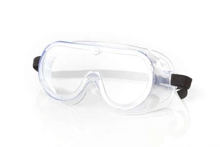 白い背景に対して明確な安全ガラス 写真素材