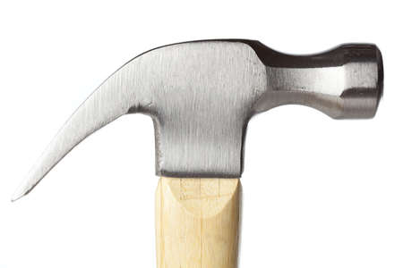 pounding head: A new wooden hammer with a steel head
