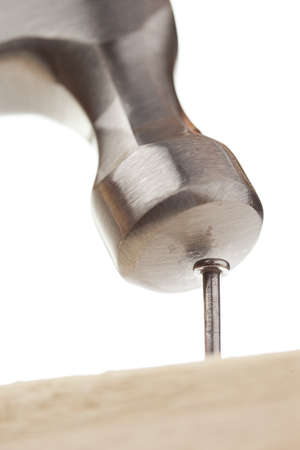 Hammer and nails used for construction Imagens