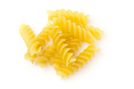 rotini: Uncooked dry Italian rotini pasta