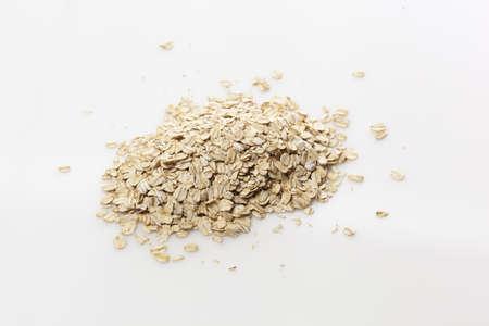 avena en hojuelas: Un fondo harina de avena seca Saludable