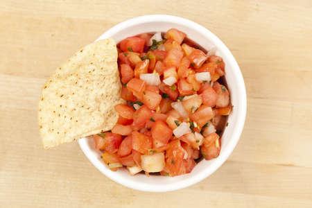 corn tortilla: Fresh Corn Tortilla Chips and Salsa background