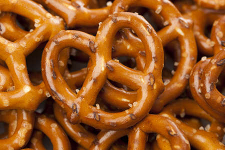 A group of Fresh Whole Wheat Pretzels photo