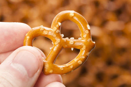 pretzel: A group of Fresh Whole Wheat Pretzels