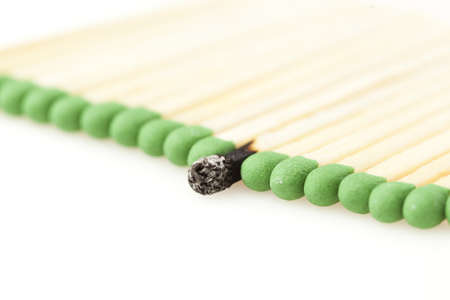 matchstick: Green Wooden Matches against a back ground