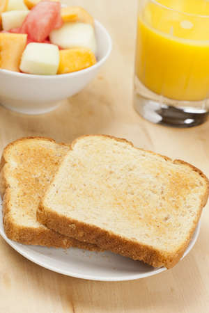 Whole Grain Toast on a background for breakfast photo