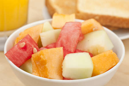 honeydew: Melon Fruit Cup  with watermelon, cantaloupe, and honeydew Stock Photo