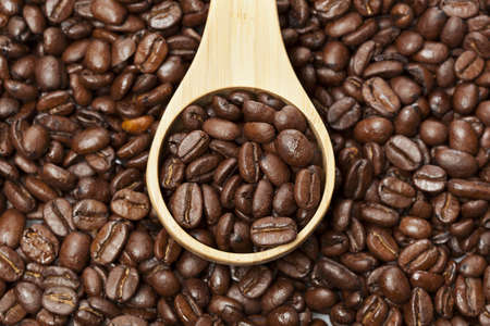 Black Organic Coffee Beans on a background Stock Photo - 14230632