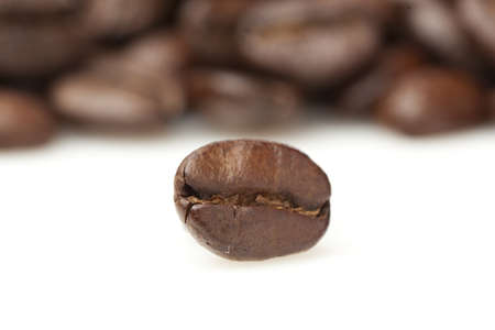 Black Organic Coffee Beans on a background Stock Photo - 14228175