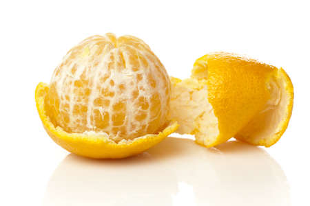 Ripe and Fresh Mandarin Orange on a background photo