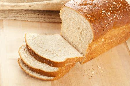 Fresh Organic Whole Wheat Bread on a background photo