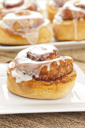 Fresh Homemade Cinnamon Rolls made for breakfast