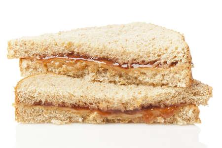pb: Fresh Homemade Peanut Butter and Jelly Sandwich