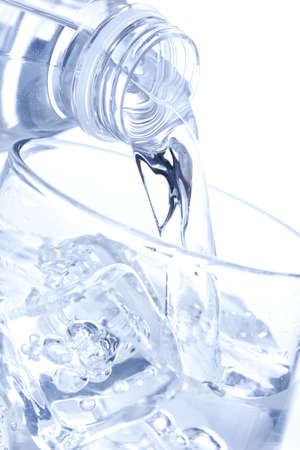 purified: Refreshing water in a bottle against a background