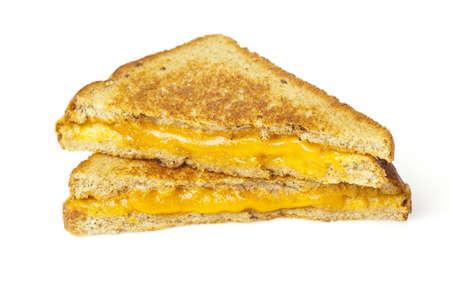 Traditionele Zelfgemaakte Grilled Cheese Sandwich op Volkoren Brood