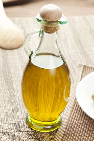Traditional Homemade Olive Oil on a background photo