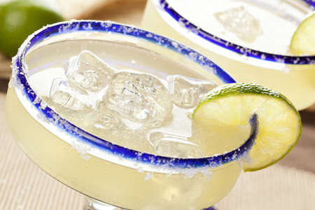margarita: Fresh Homemade Margarita with Lime on a background