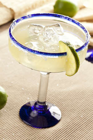 Fresh Homemade Margarita with Lime on a background photo