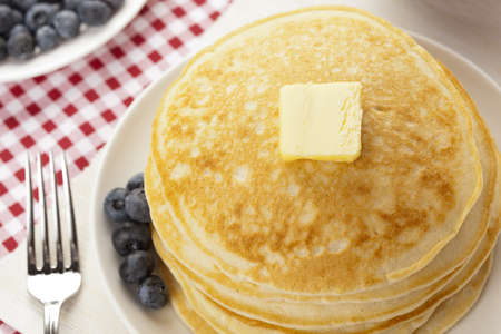 flapjacks: Fresh Homemade Pancakes with Syrup on a background