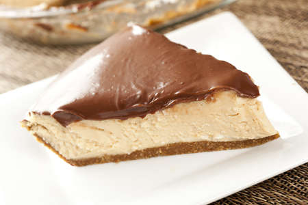 fattening: Gourmet Peanut Butter Pie on a background
