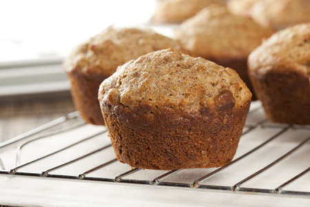 Fresh Homemade Bran Muffins made with Whole Wheat Stock Photo - 15790471