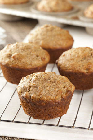 Fresh Homemade Bran Muffins made with Whole Wheat Stok Fotoğraf - 15790438