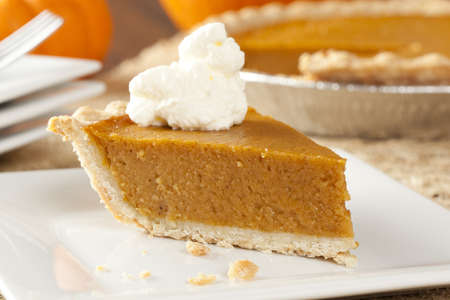 Fresh Homemade Pumpkin Pie made for Thanksgiving photo