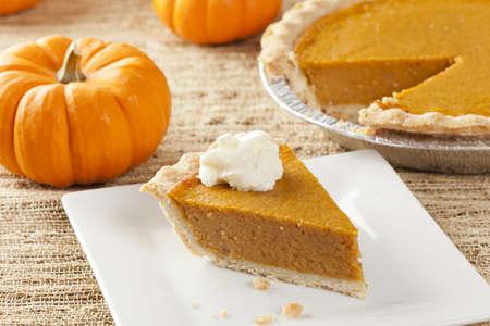 Fresh Homemade Pumpkin Pie made for Thanksgiving Stock Photo - 15790464
